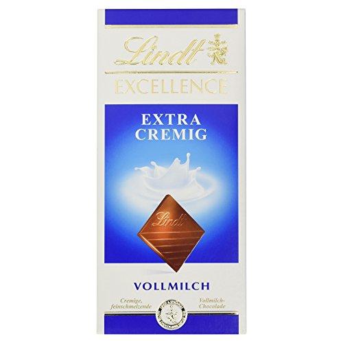 Lindt Excellence Tafel Extra Cremig, unendlich zartschmelzende Vollmilch Chocolade, glutenfrei, 100g