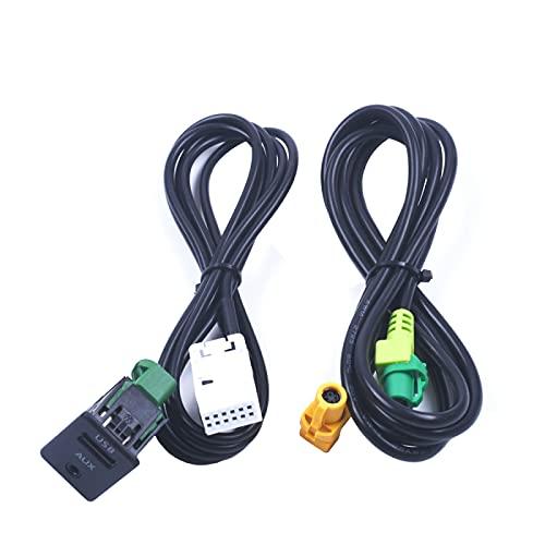 AutOcean para BMW 3 Series E87 5 E90 E91 E92 X5 X6 Interruptor Auxiliar Cable Adaptador USB Radio en Conector