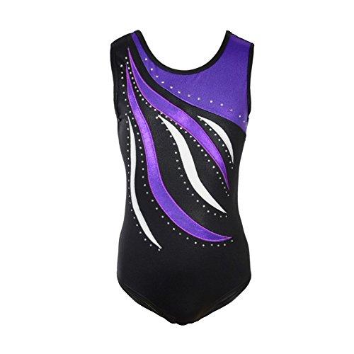 Blaward Kleine Mädchen Einteilige Sparkle Dancing Gymnastik Athletische Kleidung Sleeveless Ballett Tutu Kleid Gymnastikanzug Dancewear