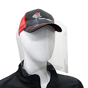 Fourth Arrow 10 Pack Hat Shield Plus 2.0 Dust Proof Face Shield for Ball Cap or Visor - Maximum Clarity Plastic with Side and Bottom Protection and Antifog