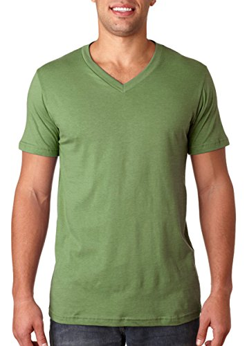Bella mens Unisex Jersey Short-Sleeve V-Neck T-Shirt(3005)-HEATHER GREEN-3XL