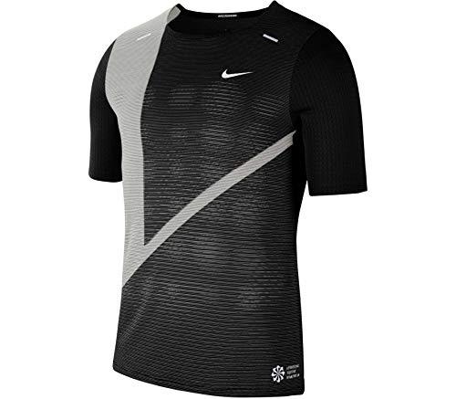 Nike Rise 365 Future - Camiseta de manga corta para hombre (talla M, color negro)