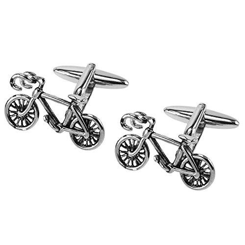CUFF IT Boutons de Manchette Anciens Vélo de Course Bicyclette pour Chemises Accessoires avec Boîte Cadeau
