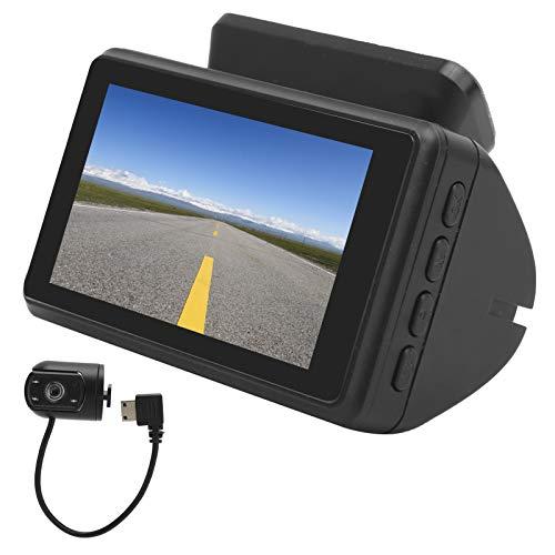 Coche 3in IPS Pantalla DVR, Cámara de conducción Accesorio para Coche Coche Lente Dual DVR, Material ABS Visión Nocturna para el hogar