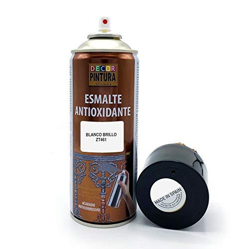 Pintura Spray Blanco Brillo 400ml ANTIOXIDANTE para metal / anti oxido para metales, hierro, aluminio, acero / Para exteriores - interior aplicación sin imprimacion
