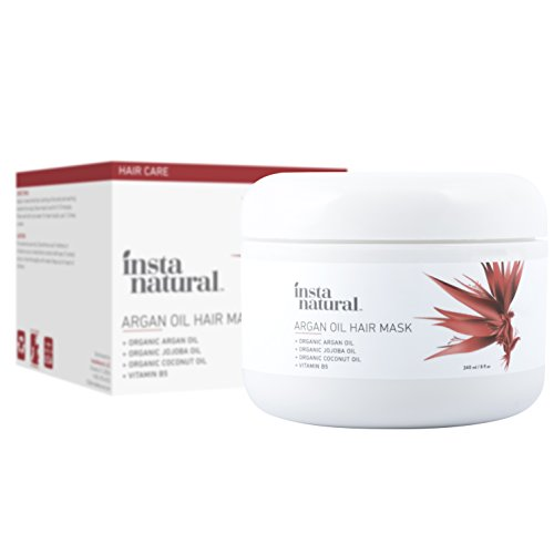 InstaNatural Argan Oil Hair Mask - Best Conditioner Treatment for Soft & Silky Hair - With Organic Argan Oil, Organic Jojoba Oil, Coconut Oil, Vitamin B5 &...