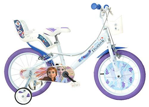 Dino Bikes Disney Princess Vélo Fille sous Licence Frozen 16 Pouces-5 à 8 Ans, 166 R-FZ