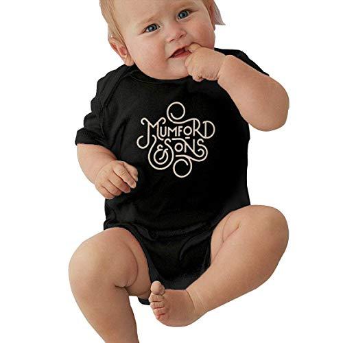 Mumford & Sons Niño pequeño Unisex Ropa Interior Suave para bebés Manga Corta 0-24 Meses Negro