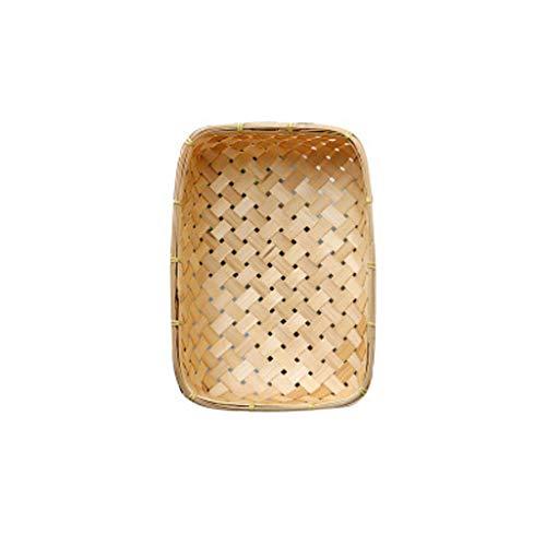 wkwk Canasta de Pan,Cuenco para masas,Material Duradero y Natural,Debido al Tejido a Mano,habrá pequeños Defectos,Compra Mental,1 Pieza (Color primario)