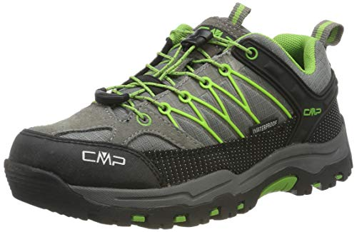 CMP Unisex-Kinder Kids Rigel Low Shoe Wp Trekking- & Wanderhalbschuhe, Grau (Tortora-Edera 16pc), 32 EU