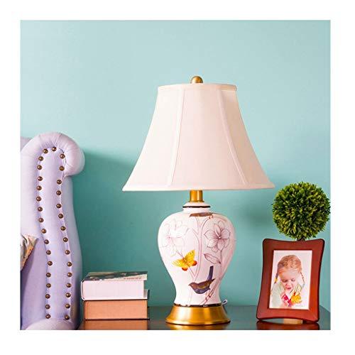 Lampe de bureau En Céramique Rétro Lampes De Table Salon Décor Rustique Creative Design Chambre Chevet Lumière Tissu Ombre Art Décoration