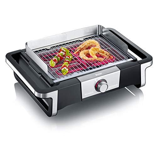 Severin SENOA BOOST PG 8113 Grill mit 500 °C BoostZone und SafeTouch-Gehäuse, 3000 Watt - Schwarz