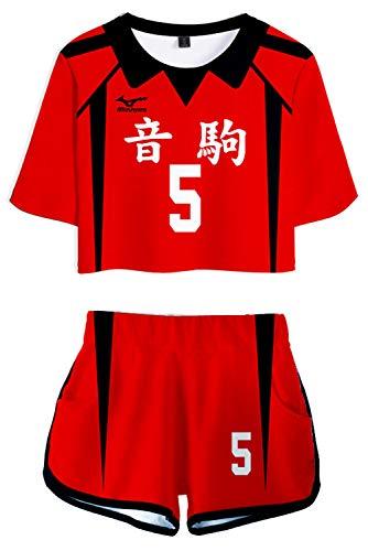 CosplayCos Nekoma High Kenma Kozume Cosplay Costume Volleyball Uniform Shorts Set