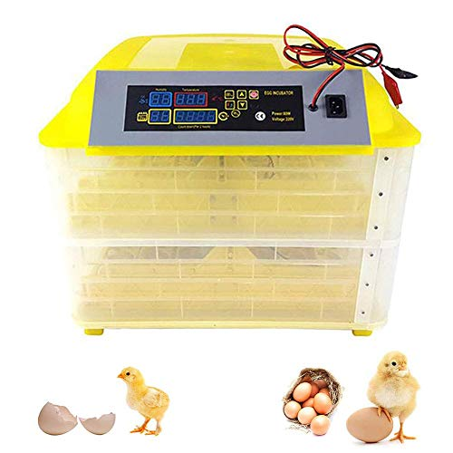 ZFF Incubator 112 Egg Automatic Turning with Dual Power, Digital Temperature Humidity Control Hatcher for Chicken Duck Goose Birds (Size : 220V)