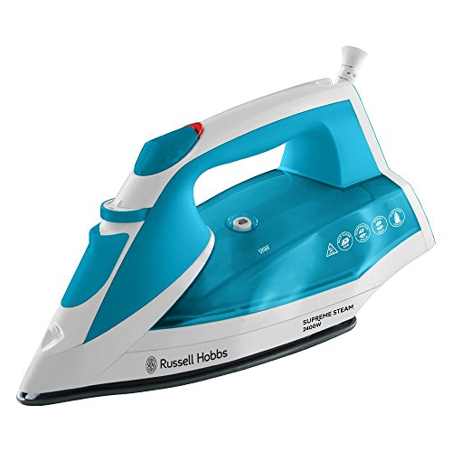 Russell Hobbs 23040 Supreme Steam Traditional Iron, 2400 W, 320 ml, Blue/White