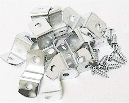"""1/2"""" Offset Clips Extra Heavy Duty with Screws 100 Pack"""