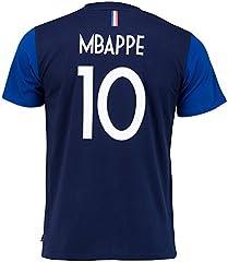 Camiseta Selección Francesa 1ª Equipacion  2018 Jugador Kylian Mbappe Niño