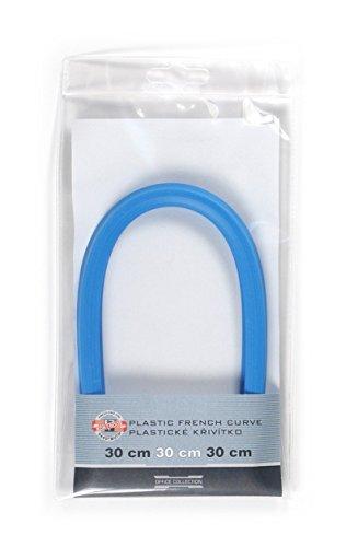 Koh-I-Noor 717008 Flexibles Kurvenlineal, Blau, 30 cm