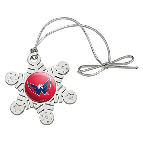 GRAPHICS & MORE NHL Washington Capitals Logo Metal Snowflake Christmas Tree Holiday Ornament