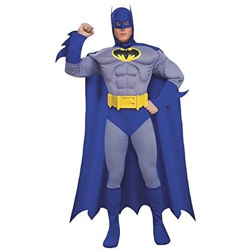 Rubie's, prodotto ufficiale, costume da Batman per adulto, versione deluxe, M
