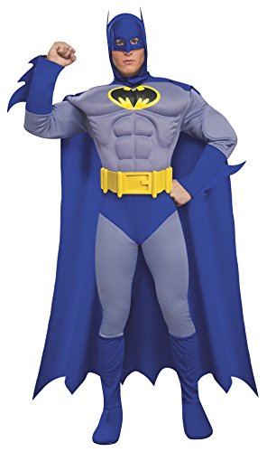 Rubie's Dc Heroes and Villains Collection Deluxe Muscle Chest Batman, Multicolored, Medium Costume