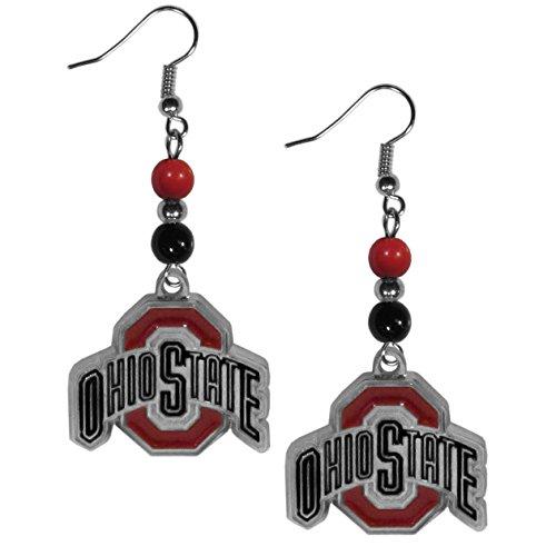NCAA Siskiyou Sports Womens Ohio State Buckeyes Fan Bead Dangle Earrings One Size Team Color