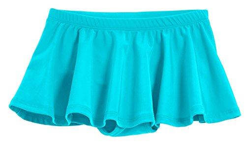 City Threads Little Girls' Swimming Suit Bottom Bikini Skort Swim Skirt Coverup Wrap Sun Protection for Modesty Yet Fashionable Turquoise, 5