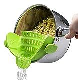 Sentana Topf Sieb - praktische Abgießhilfe für Töpfe - platzsparendes Nudelsieb zum bequemen Abgießen - passend für alle Töpfe und Pfannen- BPA frei