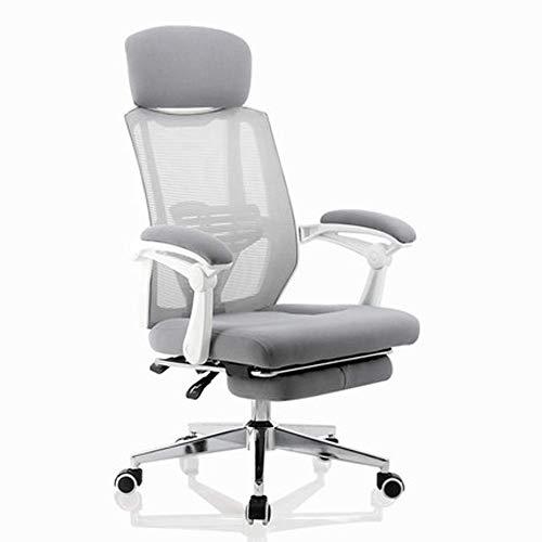 Bürostuhl, mit Liegefunktion, ergonomisch, langes Sitzen, bequeme Taillenunterstützung, Chefsessel, glas, weiß, Größe