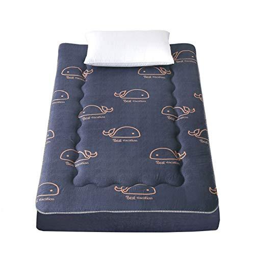 YSPS Stile Giapponese Piano Materasso futon Materasso, Thick Tatami può Essere Piegato e Rotolo Materassi, Ragazzi e Ragazze Dormitorio per Bambini Piano Lounge 90 * 200cm