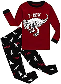 Image of Cotton Dinosaur T-Rex Pajamas for Boys - See More Styles