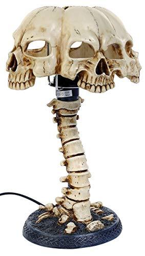 Elektrische Tischlampe Schädel auf Wirbelsäule Lampe Standard