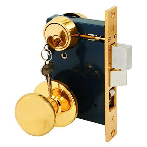 Segal SE 27570 Entrance Mortise Lockset, 2-1/2 in. Backset, Wrought Solid Brass, Double Cylinder