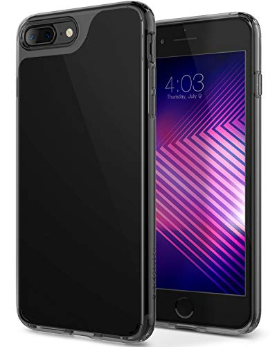 Caseology Waterfall for Apple iPhone 8 Plus Case (2017) / for iPhone 7 Plus Case (2016) - Minimal & Transparent - Jet Black