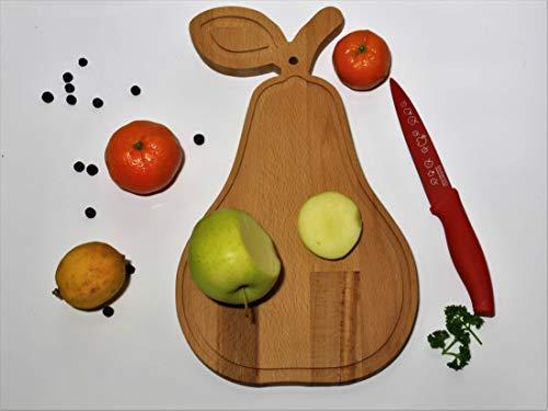 MagHolz Schneidebrett, Servierbrett aus Holz für Obst, Gemüse zum Servieren oder Schneiden, Küchenplatte, 40x19x2cm