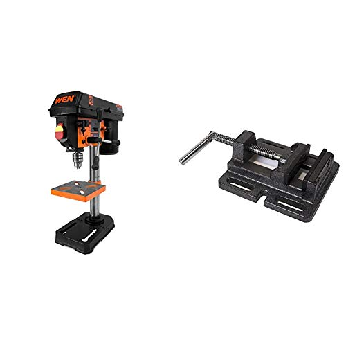 Purchase WEN 4208 8 in. 5-Speed Drill Press & 423DPV 3-Inch Cast Iron Drill Press Vise