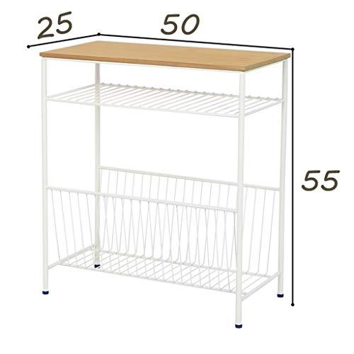 Table pliante XEWNG Desk Armoire de Chevet Mini-canapé latéral (Couleur : Blanc, Edition : B)