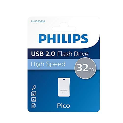 Philips Pico 2.0 Mini USB Stick 32GB – Kompakter Speicherstick 32 GB – Ideal für Benutzung im Auto