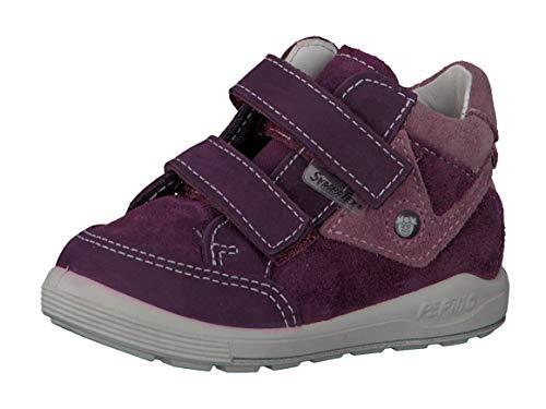 RICOSTA Pepino by Fille Bottes & Boots Kimo, Bottes pour Enfants, Lassie Bottes,Bottes Velcro,imperméables à l'eau,Merlot,22 EU / 5.5 UK