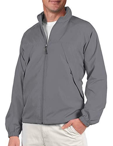 SCOTTeVEST Mens Pack Windbreaker Jacket - 19 Pockets - Fall Jackets for Men (GRA S) Graphite