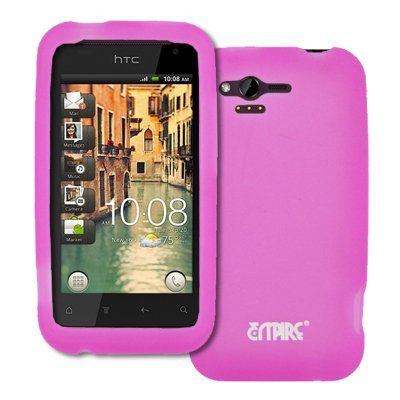 EMPIRE Hot Pink Silicone Skin Case Cover for HTC Rhyme