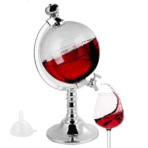 GKanMore Globe Decanter 1.8L Globe Shape Dispenser with Funnel and...
