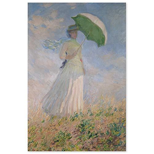JUNIWORDS Poster, Claude Monet, Frau mit Sonnenschirm, nach rechts gewendet, Susanne Hoschedé, 60 x 91 cm