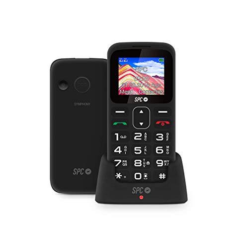 SPC Symphony - Teléfono móvil bluetooth, Dual Sim, con letras y números...