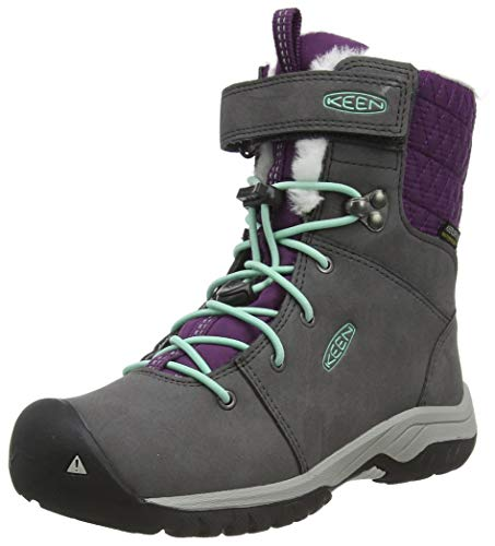 KEEN Hoodoo 3 Mid Wp Snow Boot, Magnet/Plum Purple, 10 US Unisex Little Kid