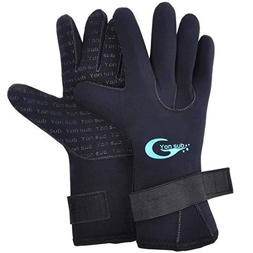 DaDong Schwimmen Tauchen Handschuhe, Angeln Tauchen Handschuhe Schnorchel bewegliche Fahrrad-Laufsport Isolierung Windsicher,S
