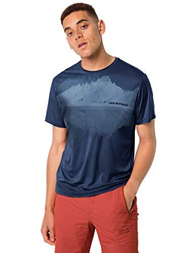 Jack Wolfskin - Maglietta da Uomo Peak Graphic, Uomo, T-Shirt da Uomo,...