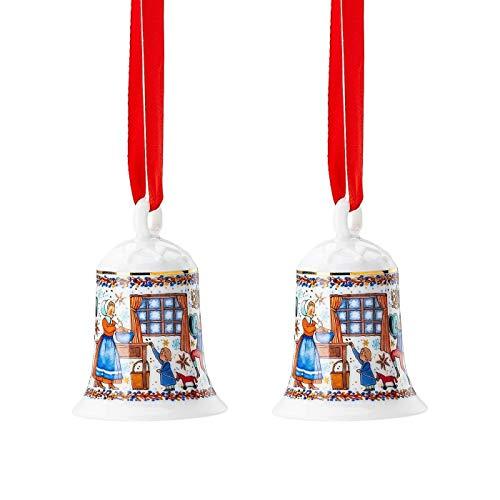 Hutschenreuther 2 x Porzellanglocke Weihnachtsglocke 2020 Weihnachtsbäckerei - 02250-722825-27920 -
