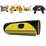 NAUXIU 3-in-1 Unterfell- Und Enthaarungsbürste, Unterfell- Und Enthaarungsbürste Pinsel,Tierhaar-Entferner-Rolle,Einfache Handhabung,Pinsel, Hundehaar, Haarentferner, Haarkämme und Haarkämme (Gelb)