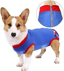 Trajes de recuperación para perros Cirugía Onesies Suave para anti lamida Mordeduras Quirúrgicas Post operatorias Abdominal Heridas para mascotas E Collar alternativo